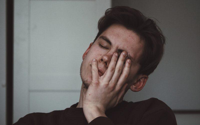 man with migraine