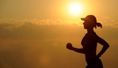 running in sunset